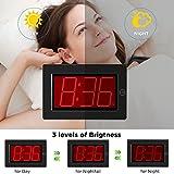 KWANWA Digital LED Wall Clock with 3'' Large