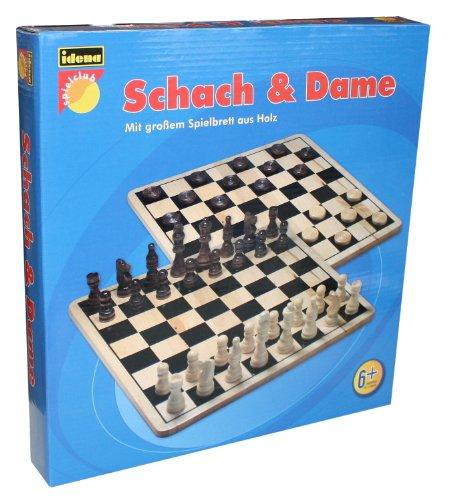 Idena 6100026 - Schach und Dame Spiel aus Holz