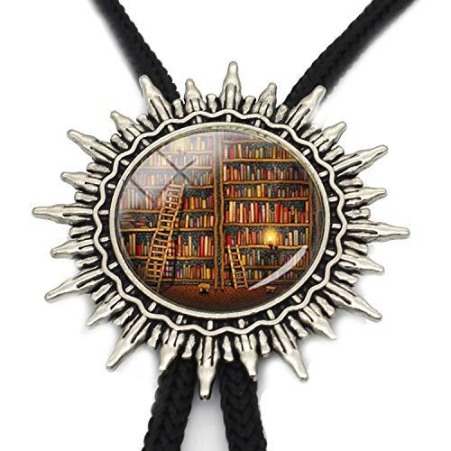 JIA-WALK Fashion Vintage So Many Books Bolo Necktie I Love Reding Bolo Tie Jewelry for Man,T4 from JIA-WALK