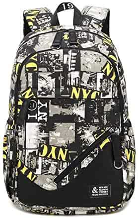 donfohy20 Backpack combination printing shoulder bag Korean men and women students leisure travel