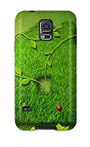 HNKSPwM4716bbBUz Tpu Case Skin Protector For Galaxy S5 Creative Green House With Nice Appearance