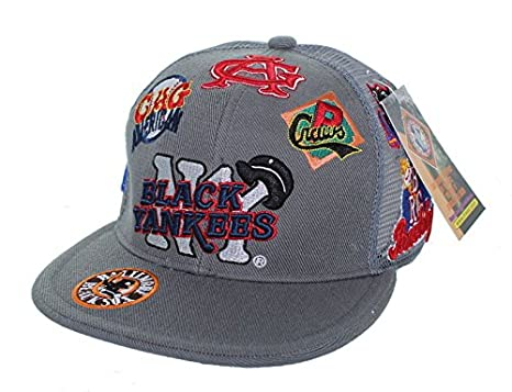 NEW NY Black Yankees Negro League Baseball Fitted Hat Embroidered Mesh Back  Cap - Dark Gray 6f67bc913a6e