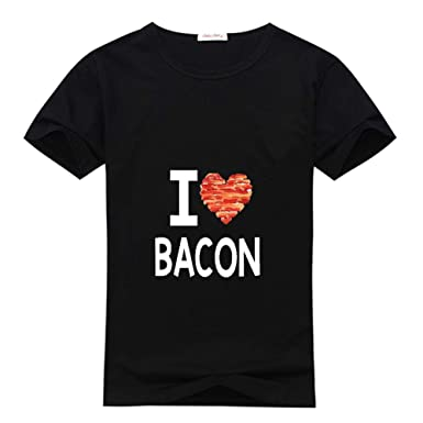 Weilediy I Love Bacon Diy Custom Classic Women T Shirt