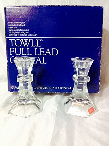 (Towle Full Lead Crystal Candlesticks ( Set of 2 ))