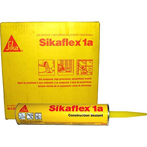 Sika, Sikaflex 1A, One Part Polyurethane Caulk, Elastomeric Construction Sealant / Adhesive, Premium Grade High Performance, Moisture-Cured, Non-Sag, Horizontal, 10.3 Fl Oz, Color: Limestone, Six Pack (Black Top Epoxy Resin)