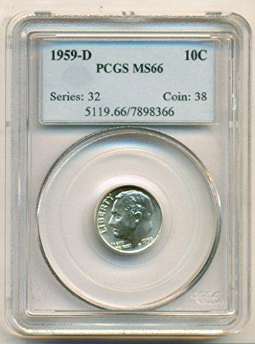 1959 D Roosevelt Dime MS66 PCGS