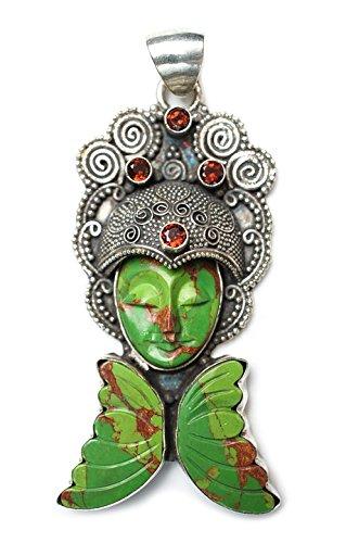 Home Comforts Peel-n-Stick Poster of Jasper Pendant Asian Stone Agate Goddess Garnet Poster 24x16 Adhesive Sticker Poster Print ()