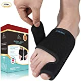 sportuli Adjustable Bunion Splint Corrector Night or Day Time for Bunion Relief, Bunion Corrector & Bunion Relief Protector for Big Toes Joint Hallux Valgus Corrector, 1 Pair Fits Left and Right Foot