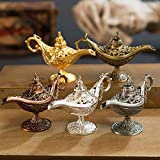 1PC Bronze Aladdin Magic Genie Lamps Ornament