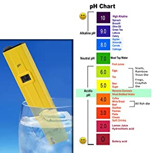 HDE Grower's Toolbox- Digital pH Meter and TDS Water Temperature Purity Salinity ppm Pen for Hydroponic Pool Aquarium Fish Tank Water Quality