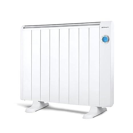 Orbegozo RRE 1510 - Emisor térmico bajo consumo, 1500 W de potencia, 8 elementos de calor, pantalla digital LCD, mando a distancia y funcionamiento ...