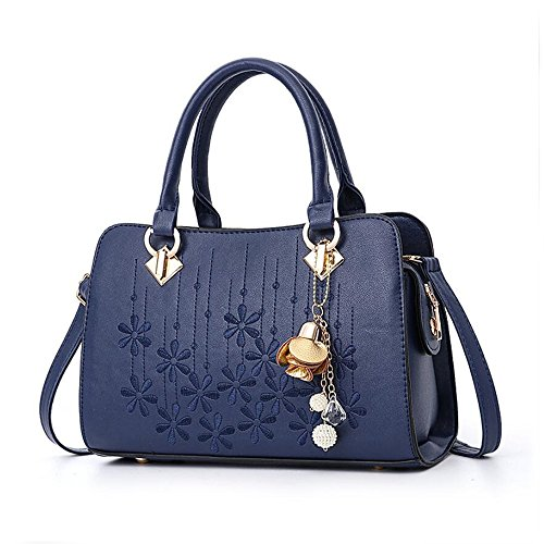 Handle Bags Crossbody Leather Fashion Bags Satchel Shoulder Handbags Women Purses Top OxsOy Blue fq5F04