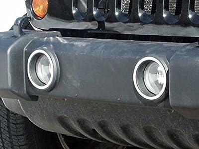 2007-2016 Jeep Wrangler 2pc Luxury FX Chrome Front Foglight Trim Rings
