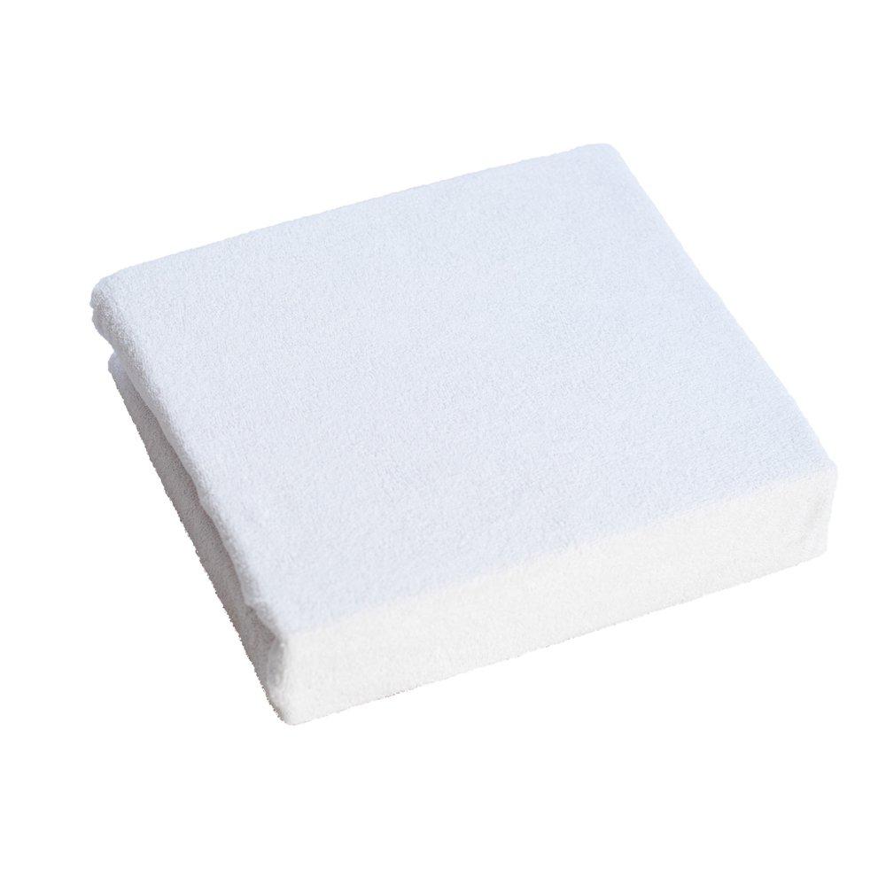 Lenzuolo con angoli, in spugna, 160 x 70 cm per Letto per bambini - bianco BabyComfort