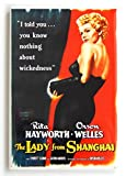 The Lady from Shanghai Movie Poster Fridge Magnet (2 x 3 inches)
