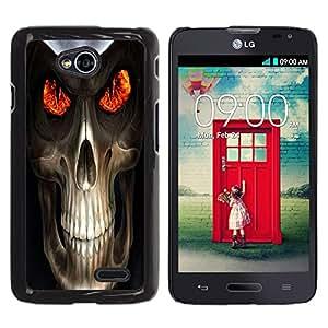 TopCaseStore / la caja del caucho duro de la cubierta de protección de la piel - Evil Skull Death Reaper - LG Optimus L70 / LS620 / D325 / MS323