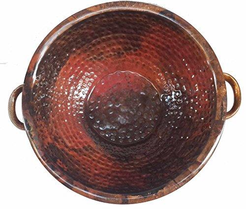 Egypt gift shops Colorful Heat Patinated Copper Ornamental Hand Hammered Wedding Anniversary Gifts Birdbath Outdoor Birdbath Bowl