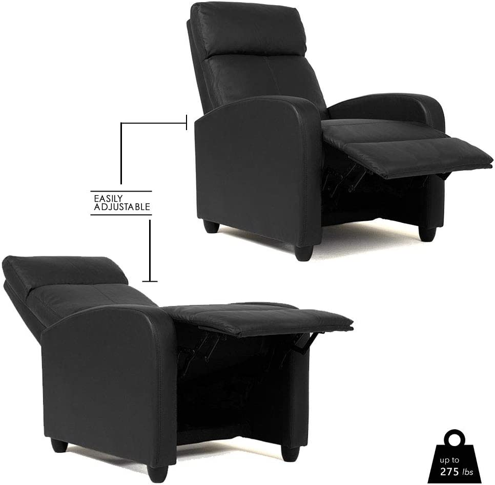 BestMassage Modern Leather Recliner Chair easily adjustable