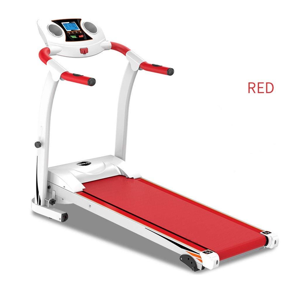 商業トレッドミル- 家庭用ランニングマシン電動電動トレッドミル折りたたみランニングジョギングウォーキングマシンホームエクササイズ用 (色 : 赤, サイズ : 118X62X127CM) 赤 118X62X127CM