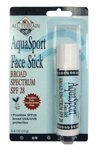 All Terrain AquaSport SPF 28 Face Stick (Pack of 2) With Jojoba, Coconut, Beeswax, Cocoa, Vitamin E and Essential Oil of Citrus, For Safe and Effective Broad Spectrum Protection.6 oz.
