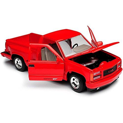 Sierra Model - 1992 GMC Sierra GT Red Pickup Truck 1/24 Diecast Model by Motormax 73204