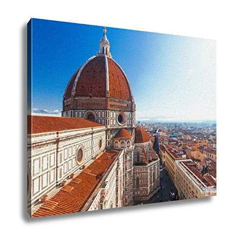 Ashley Canvas View Of The Cathedral Santa Maria Del Fiore In Florence Italy Wall Art Decor Stretched Gallery Wrap Giclee Print Ready to Hang Kitchen living room home office, 24x30 by Ashley Canvas