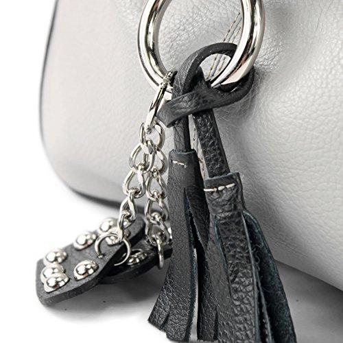 T10 modamoda italien Gris crossover de noir clair sac cuir qURPfX