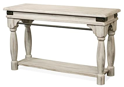 Riverside Furniture Sofa Table In Farmhouse White
