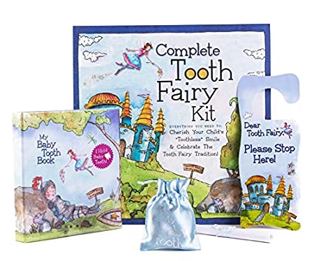 Baby Tooth Album Tooth Fairy Kit, Blue 16170