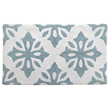 Park B. Smith Tivoli Bath Rug, 24 by 40-Inch, Aquamarine