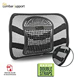 Back Support Cushion for Chair Go Lumbar Support Mesh Back Cushion for Car Seat Desk Office Chair [UPGRADE VERSION WITH STRAP], Recommended by Chiropractor Dr. Jose Guevara for Orthopedic Driving Comfort and Posture Support, Black