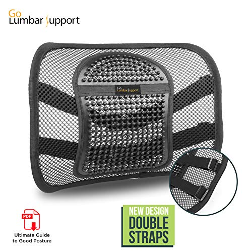 Portable Adjustable Car Cushion Go Lumbar Back Support Comfo