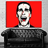 Poster Mural Movie American Psycho 35x47 in (90x120 cm) on Canvas