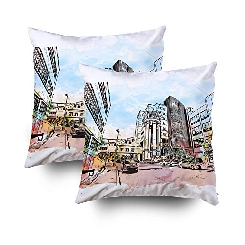 - Joy pillow case,ROOLAYS Throw Square Decorative Pillow Cover 18X18Inch, Cotton Cushion Covers Louisville City in Kentucky US Both Sides Printing Invisible Zipper Home Sofa Decor Sets 2 PCS Pillowcase