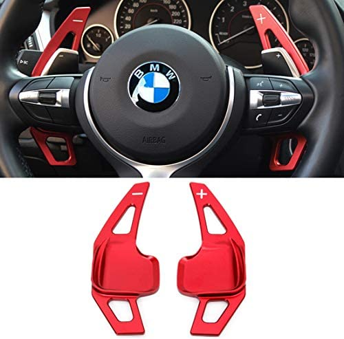 For BMW Paddle Shifter ExtensionsJaronx Aluminum Metal Steering Wheel Paddle Shifter(Fits: BMW 2 3 4 X1 X2 X3 X4 X5 X6 seriesF22 F23 F30 F31 F33 F34 F36 F32 F15 F16 F25 F26 F48 F39) -Red