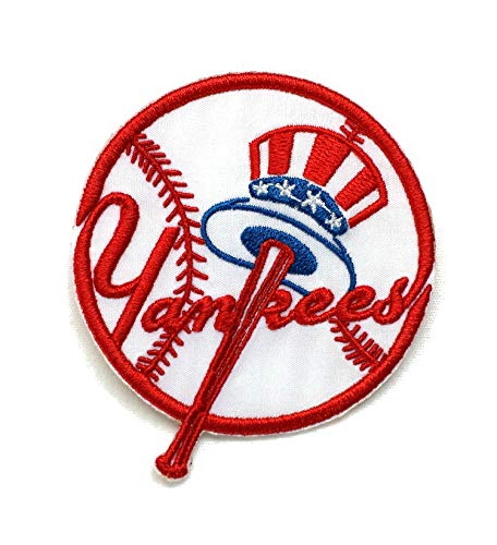 Yankee's Baseball Fully Embroidered Iron On Patch InspireMe Family Owned 3