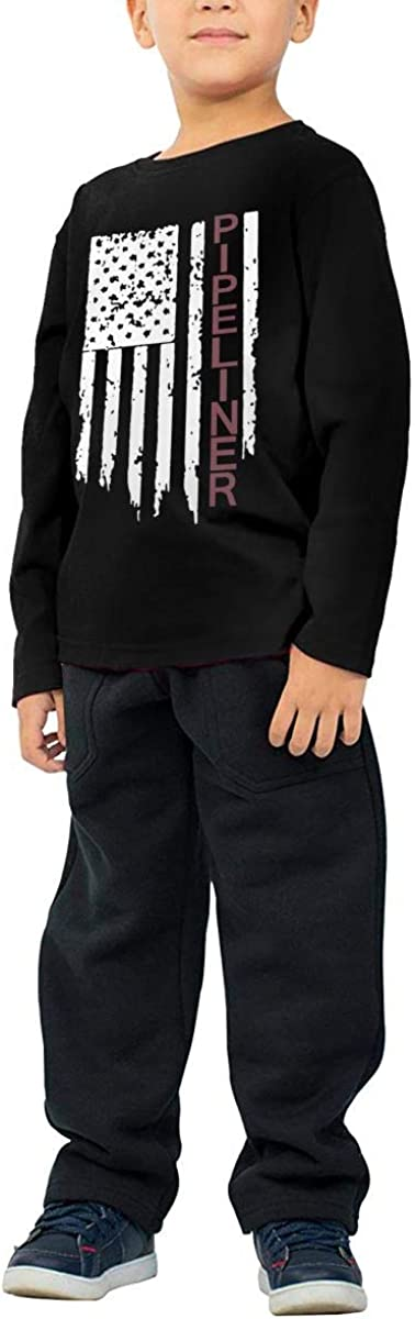 CERTONGCXTS Little Boys Pipeliner US Flag ComfortSoft Long Sleeve Shirt
