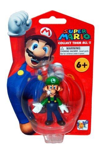 Super Mario Brothers Master Replicas 4 inch PVC Figure Series 1 Luigi