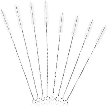 8pcs Stainless Steel Straw Animal Pattern Reusable Coffee Straw with Brush Neu