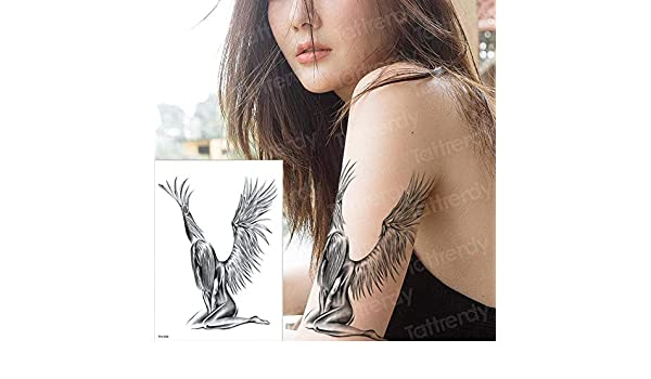 tzxdbh Tatuaje Temporal Hoja de Tatuaje Tatuajes temporales alas ...