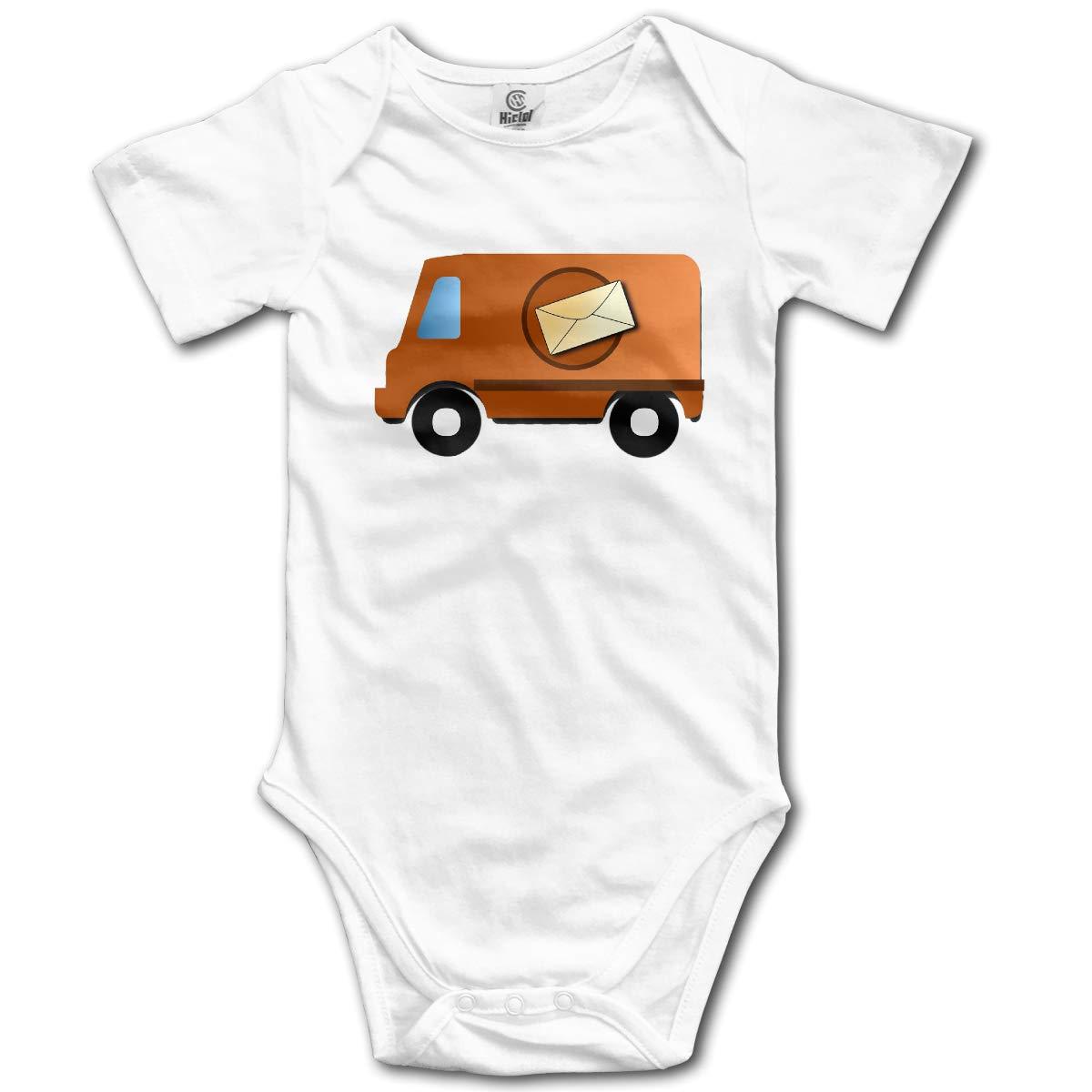 FAFU/&SKY Mail Truck Mailmanwps/å/›/¾/ç/‰/‡ Toddler Baby Romper Summer Short Sleeve Onesie