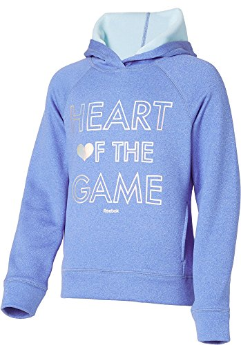 Price comparison product image Reebok Girls' Performance Fleece Heart Of The Game Graphic Hoodie (Vital Blue,  L)
