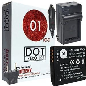 DOT-01 Brand 1500 mAh Replacement Panasonic DMW-BCF10 Battery and Charger for Panasonic DMC-FH20 Digital Camera and Panasonic BCF10