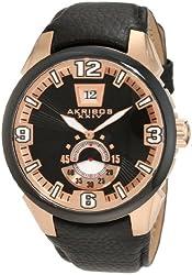 Akribos XXIV Men's AKR461RG Round Quartz Big Date Bold Strap Watch