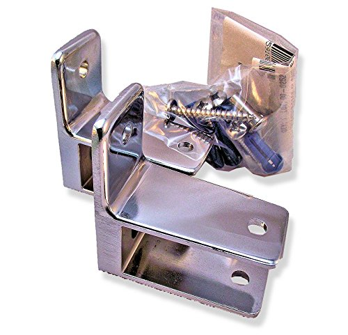 Chrome Plated Zamac One Ear Pilaster Bracket Pak/2 - for 1