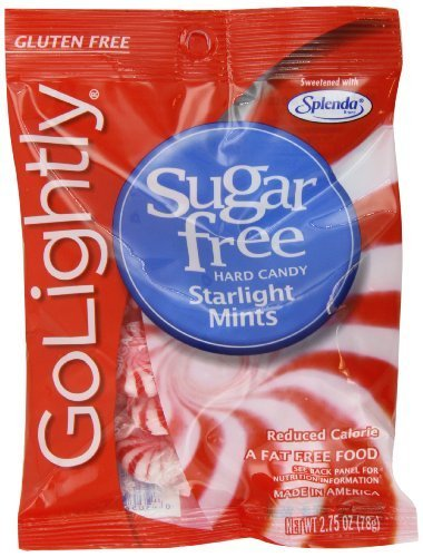 Golightly Sugar Free Starlight Mints 2.75-Ounce Bags (Pack of 12) - Pack Of 12