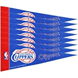 Rico NBA Clippers 8 Pc Mini Pennant Pack Sports Fan Home Decor, Multicolor, One Size