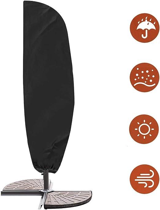 Funda Sombrilla Jardin, Funda para Parasol Impermeable con Cremallera, Oxford 420D, Parasol Excéntrico, Impermeable contra Rayos UV y Lluvia, 265cm: Amazon.es: Jardín