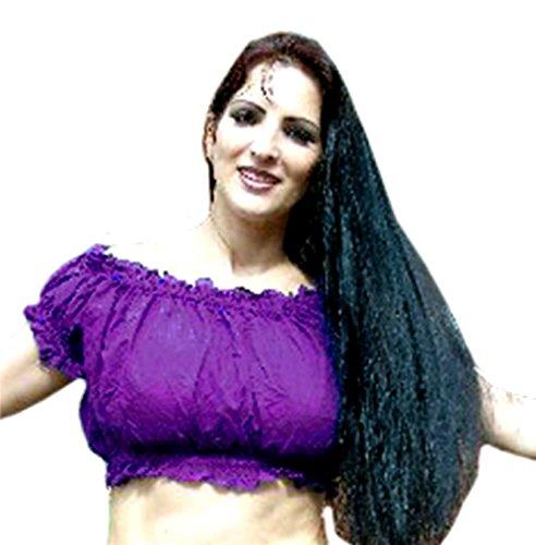 Arabian Costumes Plus Size (PLUS SIZE Belly Dancing Tribal Choli Top Costume UK SIZE 16/18 - 22, XL XXL XXXL (PURPLE))