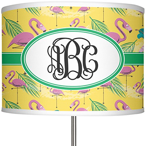 RNK Shops Pink Flamingo 13'' Drum Lamp Shade Polyester (Personalized) by RNK Shops